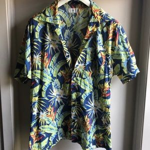 Onia tropical short-sleeved button down